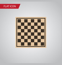 Isolated checkerboard flat icon chess table vector