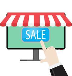 Make online purchases vector image