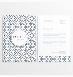 Modern letterhead design template with abstract vector