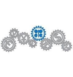 OPEC gears vector image