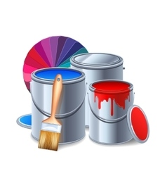 Painting Tools Composition vector image vector image