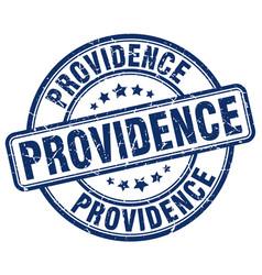 Providence blue grunge round vintage rubber stamp vector