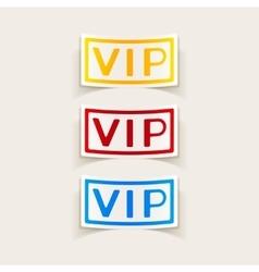 realistic design element vip vector image