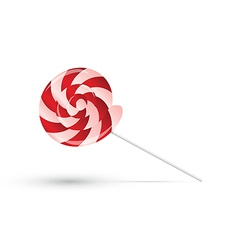 Red lollipop with shadow vector image