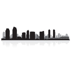 San diego usa city skyline silhouette vector