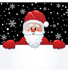 santa holding paper vector image vector image