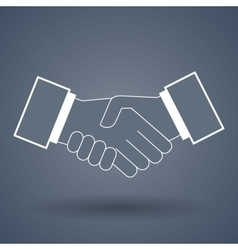 Shake hand line icon vector image vector image