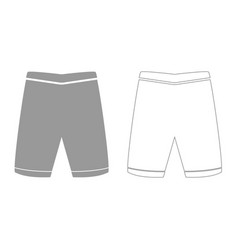 shorts grey set icon vector image