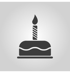 The birthday cake with candles icon dessert vector