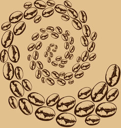 Whirlwind of coffee beans vector
