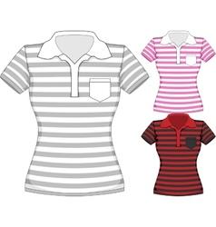 womens short sleeve t-shirt design vector image vector image
