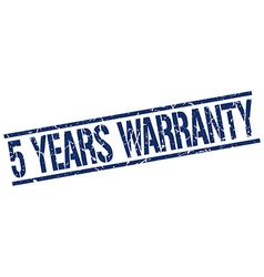 5 years warranty stamp vector