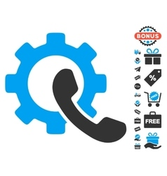 Phone configuration icon with free bonus vector