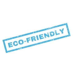 Eco-friendly rubber stamp vector