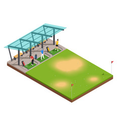 Golf training isometric composition vector