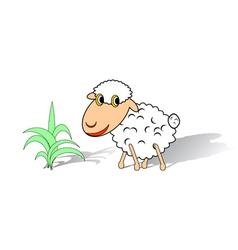 A funny sheep on a white background vector