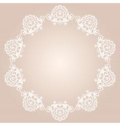 round doily vector image