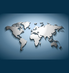 World map embossed vector image