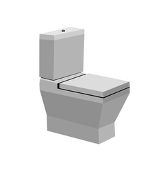 Toilet bowl vector