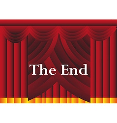 The end curtains background vector image