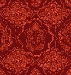 Indian seamless pattern with ornament vector image
