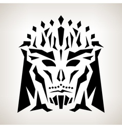 Abstract mask tribal style vector