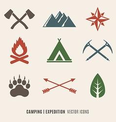 Expedition symbols vector image