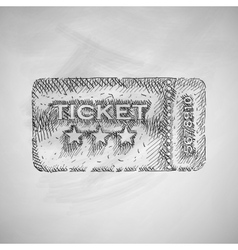 Ticket icon vector