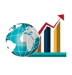 Growth global design vector