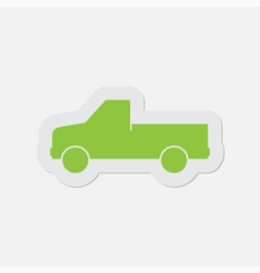 Simple green icon - car vector