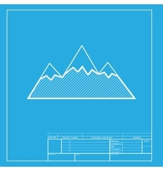 Mountain sign  white section of icon vector