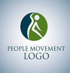 People movement logo 7 vector