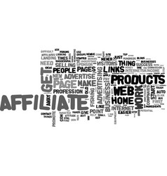 Affiliate s guide to success text word cloud vector