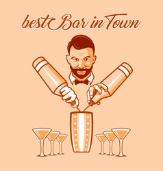 Best bar in town ad vector