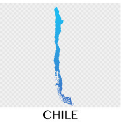 Chile map in south america continent design vector