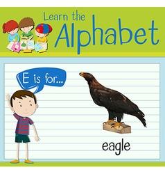 Flashcard alphabet e is for eagle vector