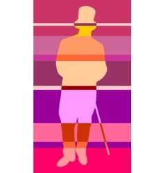 Gentleman in a tuxedo silhouette vector