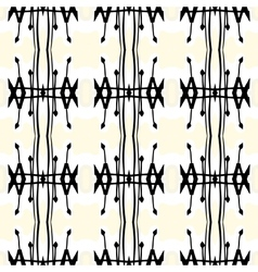 Geometric art deco pattern with thick black lines vector image vector image