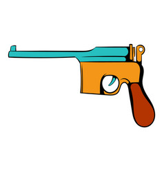 german pistol icon cartoon vector image