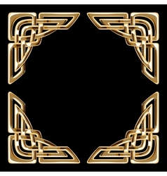 golden celtic corners vector image vector image