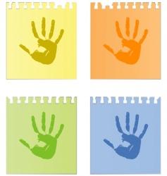 handprints vector image