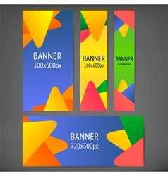 Horizontal and vertical web banners vector image vector image