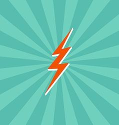 Lightning bolt theme vector