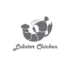 lobster and chicken fast food restaurant concept vector image