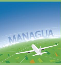 Managua flight destination vector