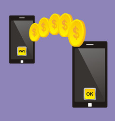 Mobile payment concept smartphone vector