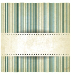 Pastel striped old background vector