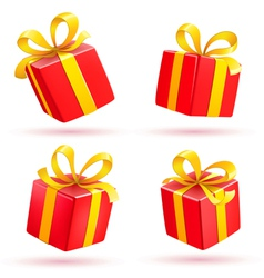 red gift boxes vector image vector image
