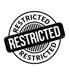 Restricted rubber stamp vector
