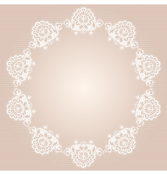 round doily vector image vector image